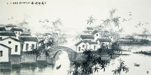 """高二适纪念馆""""和中国江苏泰州市凤城河风景区""""望海楼&"""