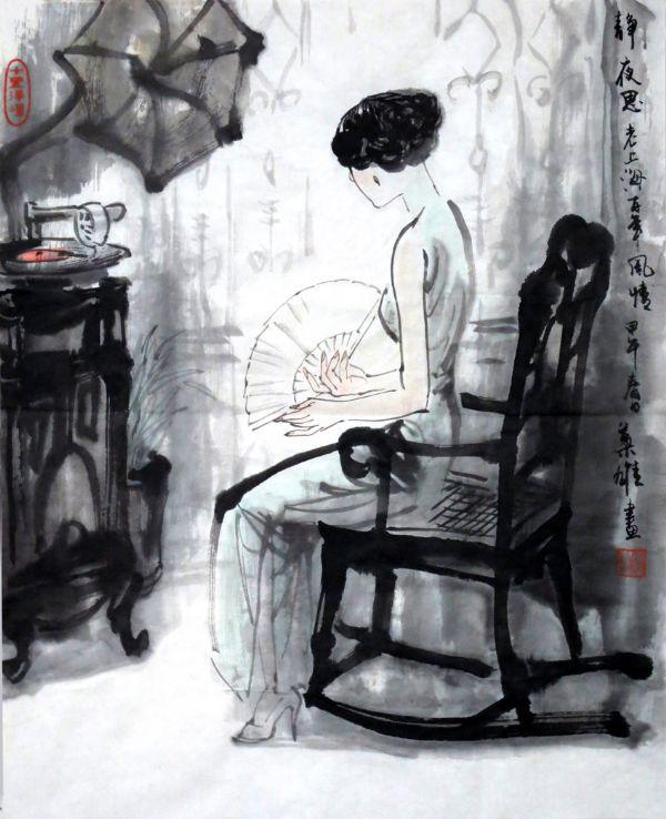 著名画家叶雄水墨三国演义作品在华宝楼展出