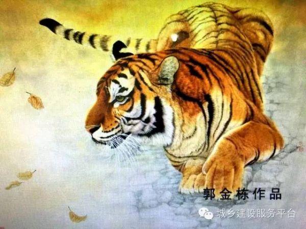 尤以擅长佛像人物,雄狮,猛虎,猎豹等大型猫科动物闻名海内外,在画狮