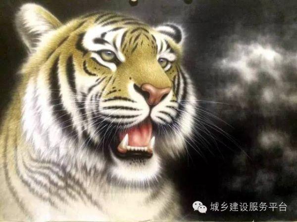 壁纸 动漫 动物 虎 卡通 老虎 漫画 头像 桌面 600_450
